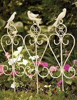 Victorian Trading Co Songbird Trio Wrought Iron Garden Rail Fence Cottage Chic Wrought Iron Garden Fencing