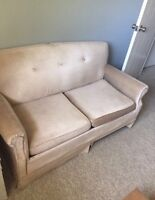 Beige Pull-out Couch