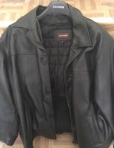 Danier 3/4 length leather jacket. Almost new. XL