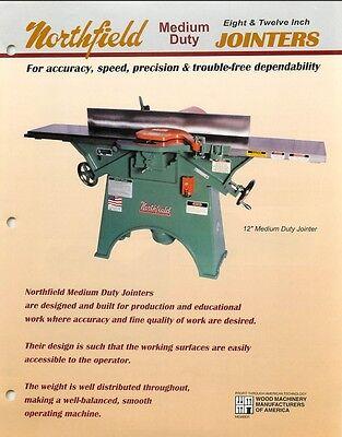 Northfield 8 12 Medium Duty Jointer Operation Parts List Pdf