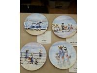 "Royal Worcester set of 4 ""Sweet summer days "" plates"