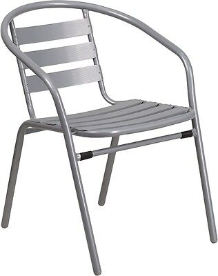 New Silver Metal Restaurant Indooroutdoor Stack Chair