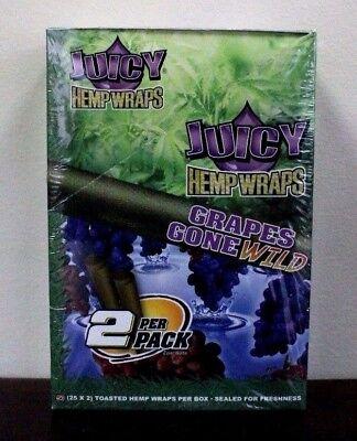 Juicy Jays Hemp Wraps Grapes Gone Wild 25 Packs   2 Wraps Per Pack Sealed