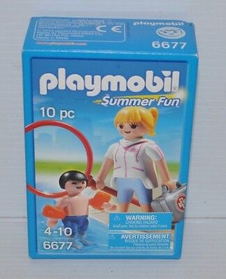 PLAYMOBIL Summer Fun 6677 Pool Supervisor SEALED NEW