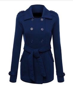 New, never worn navy double-breasted belted Peacoat St. John's Newfoundland image 1
