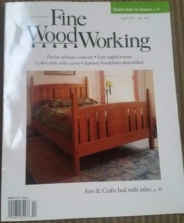 *Fine Woodworking Magazine (Taunton Press) April 2017 New Arts & Crafts bed