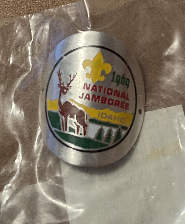 BSA National Scout Jamboree Hiking Stick Cane Badge - 1969 Idaho - New -