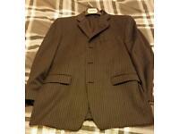 2 piece calvin klein grey pinstripe suit