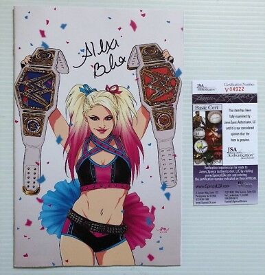 Alexa Bliss Signed Autographed Wwe  14 Exclusive Championship Belt Cover Jsa Coa