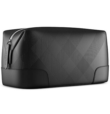Burberry Fragrances Makeup Cosmetic Case Black Pouch Shaving Dopp Kit Bag LARGE.