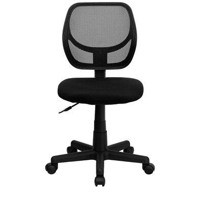 Office Mid Back Black Mesh Swivel Task Chair Computer Desk Dorm Room