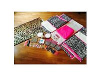 GIRLS KIDS GORGEOUS! PINK ZEBRA AND LEOPARD PRINT PARTY BUNDLE