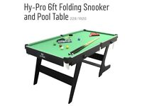 Folding 6ft pool/snooker table