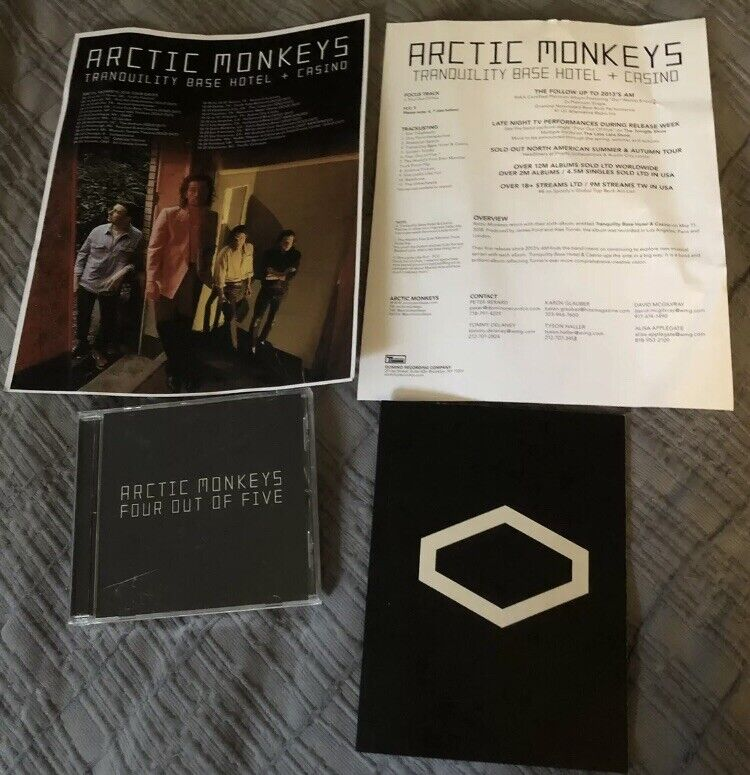 Arctic Monkeys Alex Turner Lyric Book Four Out Of Five CD Promo Lot 2018 Domino