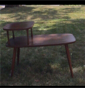 Vintage wooden side tables plus other tables