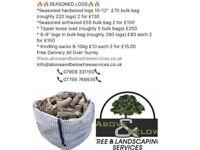 Seasoned hardwood logs 07909331150