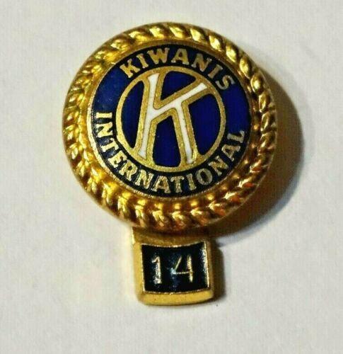 KAWANIS INTERNATIONAL ~  14 YR ~ LAPEL PIN