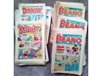 100+ BEANO AND DANDY COMICS 1980'S