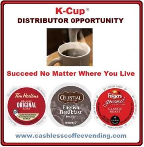 "Own A Profitable ""Cashless"" Coffee & Tea Vending Business That Practically Runs Itself!"