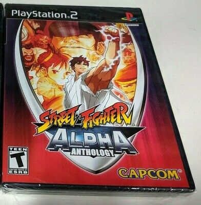 Street Fighter Alpha Anthology PLAYSTATION 2 , PS2 Nuevo
