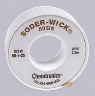 Chemtronics 50-5-25 Soder-wick Rosin Desoldering Braid