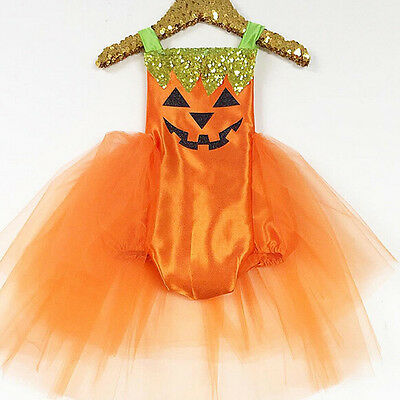 USA Newborn Baby Girls Halloween Costume Romper Tutu Dress Party Clothes Outfits (Newborn Halloween Costumes)