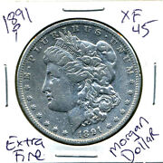 1891 P Morgan Silver Dollar