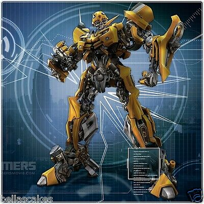Tortenaufleger Transformers BumbleBee DVD NEU Tortenbild Dekoration cd backen (Bumble Bee Kuchen Dekorationen)