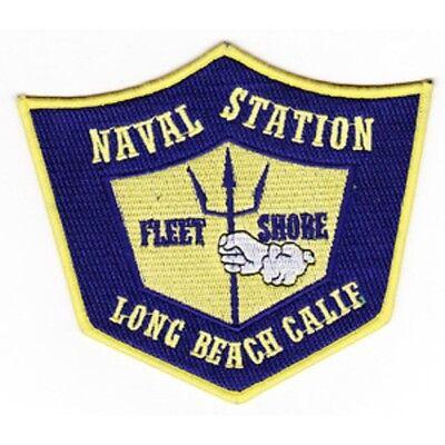 NAVY LONG BEACH US Naval Station California Military Patch FLEET SHORE
