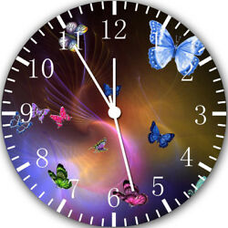 Beautiful Butterfly Frameless Borderless Wall Clock Nice For Gifts or Decor Y112