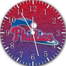 Philadelphia Phillies Frameless Borderless Wall Clock Nice Gifts or Decor Z174