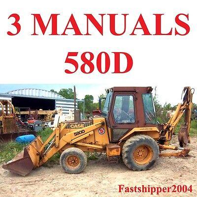 Case 580 580d 580sd Tractor Service Manual Operator Parts Super D Loader Backhoe