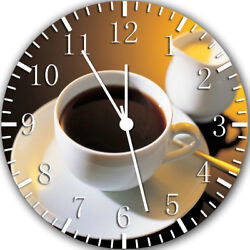 a Cup of Coffee Frameless Borderless Wall Clock Nice For Gifts or Decor Y40