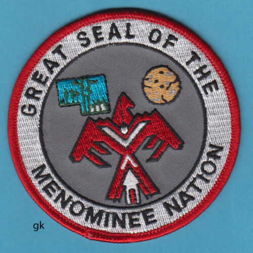 GREAT SEAL OF THE MENOMINEE NATION TRIBAL WISCONSIN TRIBE SHOULDER PATCH