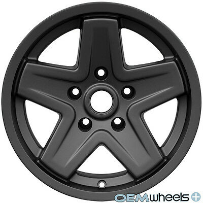 "GUNMETAL 16"" CLASSIC OFFROAD WHEELS RIMS SET NEW FITS JEEP WRANGLER JK 2007-2014"