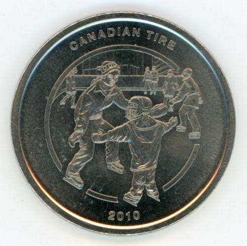 2010 Canadian Tire Trade Dollar Token Money Coin Medal Canada Ice Skating