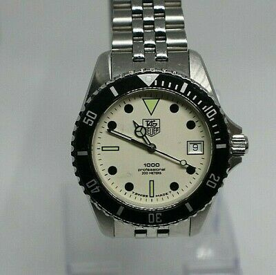 Tag Heuer 1000 Night Diver Boxed with booklet and Paper, Superb Condition.