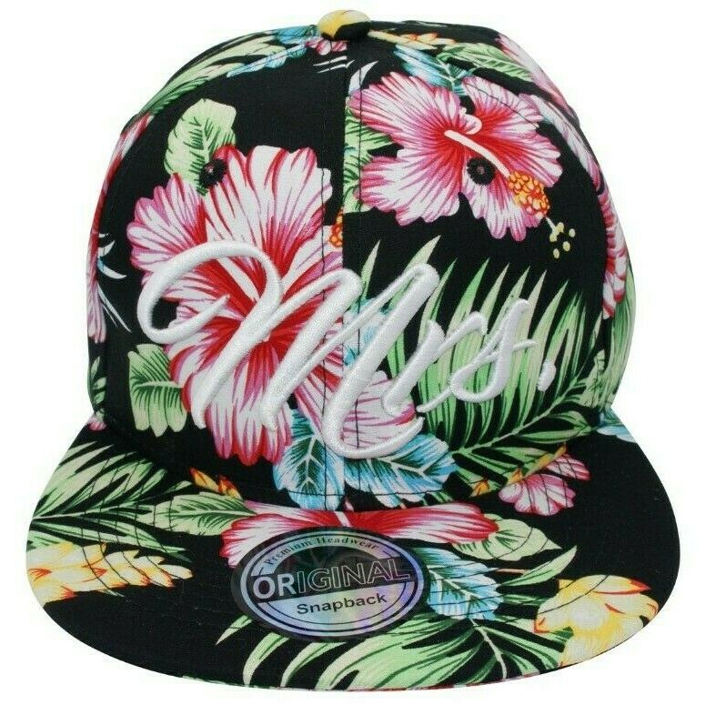 Cappy Kappe Cap Basecap Damen Damenkappe Mütze Freizeit Hut MRS Hawaii schwarz