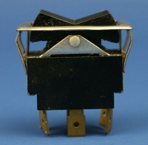 Vintage Black On-off-on Rocker Switch Momentary 15A 125VAC 10A 250VAC 3/4hp 250V
