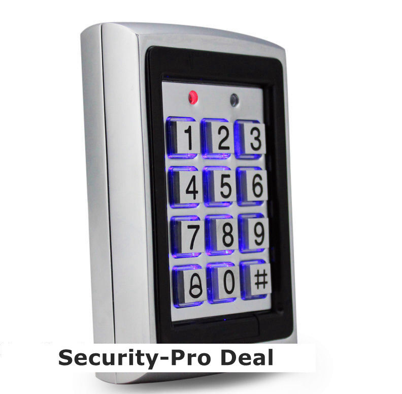 USA Metal 125KHz RFID Card And Password Door Access Control Keypad Backlight TOP