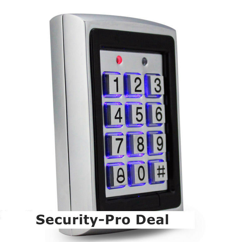 125KHz RFID Card + Password Metal Security Door Access Control Keypad+Backlight