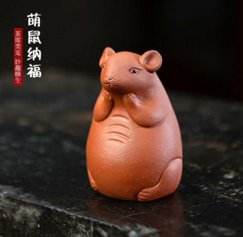 chinese Yixing Zisha pottery tea pet :cute mouse rat