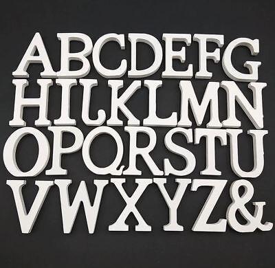 L- Holzbuchstaben 3D Buchstabe Zahlen Zahl Buchstaben Holz weiß Namen 8 cm A-Z  ()