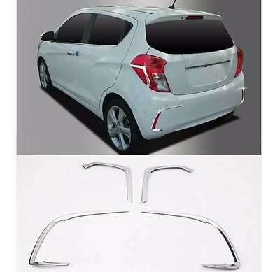 Chrome Rear Lamp Garnish 4Pcs 1Set For GM Chevrolet Spark 2016+