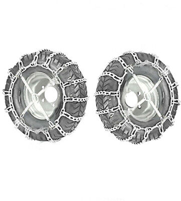 20x10.00-8 Snow Chains+Tensioner For Lawn Tractor Ride On Mower 20 x 10.00 - 8
