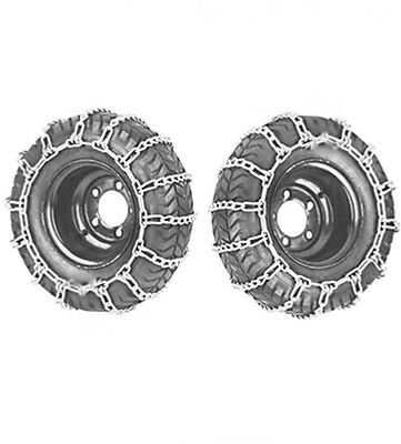 255/60-10 and 23x8.50-12 Snow Chains Set For Lawn Tractor Ride On Mower