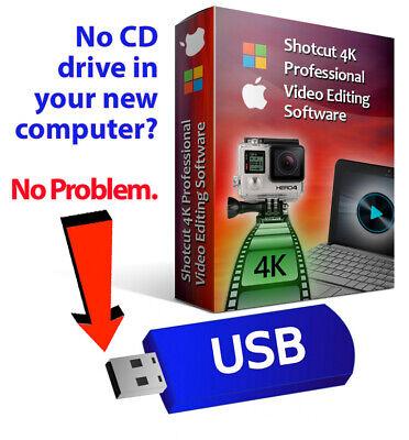Shotcut Professional Video Editing Software Suite-4K Movie-Windows & Mac-on USB