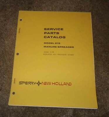 New Holland Model 213 Manure Spreader Illustrated Parts Manual 1979 Reduced