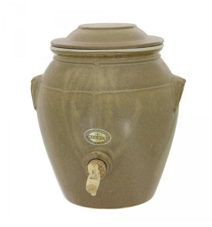 Vinaigrier digoin ceramique gres + robinet 4l brun mat neuf 2eme choix