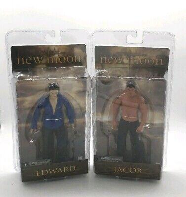 "Twilight New Moon Edward and Jacob Figurines Action Figures Toys 7"" New Sealed"